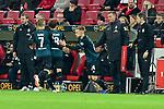 04.11.2018, Opel-Arena, Mainz, GER, 1 FBL, 1. FSV Mainz 05 vs SV Werder Bremen, <br /> <br /> DFL REGULATIONS PROHIBIT ANY USE OF PHOTOGRAPHS AS IMAGE SEQUENCES AND/OR QUASI-VIDEO.<br /> <br /> im Bild: Wechsel Johannes Eggestein (SV Werder Bremen #24) fuer Florian Kainz (SV Werder Bremen #7)<br /> <br /> Foto © nordphoto / Fabisch