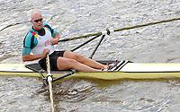 Henley, Great Britain. Diamond Sculls Chaalllenge GER M1X Marcel HACKER, at the 2007 Henley Royal Regatta,  Henley Reach, England 06/07/2007  [Mandatory credit Peter Spurrier/ Intersport Images] Rowing Courses, Henley Reach, Henley, ENGLAND . HRR.