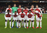 Arsenal team photo prior to kick-off<br /> <br /> Photographer Rob Newell/CameraSport<br /> <br /> UEFA Europa League Group E - Arsenal v FK Qarabag - Thursday 13th December 2018 - Emirates Stadium - London<br />  <br /> World Copyright &copy; 2018 CameraSport. All rights reserved. 43 Linden Ave. Countesthorpe. Leicester. England. LE8 5PG - Tel: +44 (0) 116 277 4147 - admin@camerasport.com - www.camerasport.com