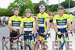 Abbeyfeale cyclists Pat, Mike and Noel Donovan and Joe Bruder at the Stephanie O'Sullivan memorial cycle in Milltown on Sunday