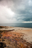 BRAZIL,  Manaus, landscape of the Amazon River with an incoming rain storm