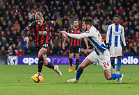 Bournemouth's Man on the match David Brooks (left) under pressure from  Brighton & Hove Albion's Davy Propper (right) <br /> <br /> Photographer David Horton/CameraSport<br /> <br /> The Premier League - Bournemouth v Brighton and Hove Albion - Saturday 22nd December 2018 - Vitality Stadium - Bournemouth<br /> <br /> World Copyright © 2018 CameraSport. All rights reserved. 43 Linden Ave. Countesthorpe. Leicester. England. LE8 5PG - Tel: +44 (0) 116 277 4147 - admin@camerasport.com - www.camerasport.com