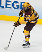 Taylor Cammarata (MN - 13) - The University of Minnesota Golden Gophers defeated the University of North Dakota 2-1 on Thursday, April 10, 2014, at the Wells Fargo Center in Philadelphia to advance to the Frozen Four final.