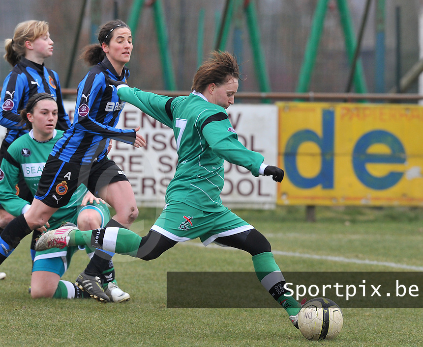 Club Brugge Dames - OHL Oud Heverlee Leuven : Charlotte Taelemans.foto DAVID CATRY / Vrouwenteam.be