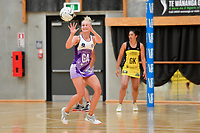 Stars&rsquo; Chariee Hodges in action during the Netball Pre Season Tournament - Pulse v Stars at Ngā Purapura, Otaki, New Zealand on Saturday 9 February  2019. <br />