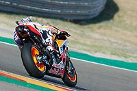Marc Marquez (Repsol Honda Team) in action during the Gran Prix Movistar the Aragón. 22-09-2018  September 22, 2018.