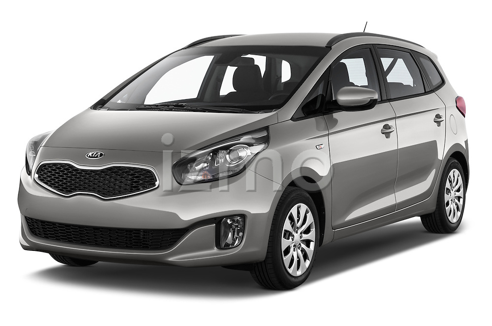 2014 KIA CARENS Lounge 5 Door Mini MPV 2WD Angular Front stock photos of front three quarter view