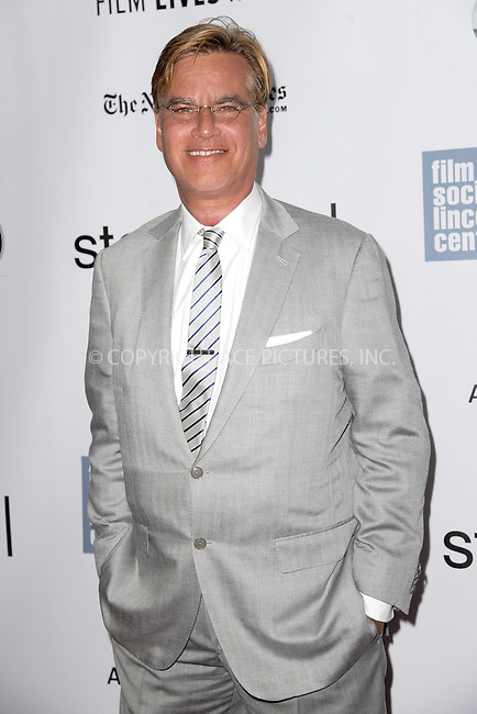 WWW.ACEPIXS.COM<br /> October 3, 2015 New York City<br /> <br /> Aaron Sorkin attending the 53rd New York Film Festival premiere of 'Steve Jobs' at Alice Tully Hall, Lincoln Center on October 3, 2015 in New York City.<br /> <br /> Credit: Kristin Callahan/ACE Pictures<br /> <br /> Tel: (646) 769 0430<br /> e-mail: info@acepixs.com<br /> web: http://www.acepixs.com