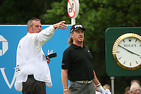 Miguel Angel Jimenez prepares to tee off on the 14th hole during the final round of the 2008 BMW PGA Championship at Wentworth Club, Surrey, England 25th May 2008 (Photo by Eoin Clarke/GOLFFILE)