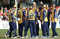 Ravi Bopara of Essex celebrates with his team mates after taking the wicket of Tom Banton during Essex Eagles vs Somerset, Vitality Blast T20 Cricket at The Cloudfm County Ground on 7th August 2019