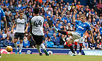 28.07.2019 Rangers v Derby County: Greg Docherty drives in a shot