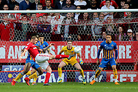 Patrick Bauer of Charlton Athletic tries a spectacular shot at the Shrewsbury goal during Charlton Athletic vs Shrewsbury Town, Sky Bet EFL League 1 Play-Off Football at The Valley on 10th May 2018