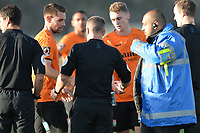 Barnet players at the final whistle during Barnet vs Bristol Rovers, Emirates FA Cup Football at the Hive Stadium on 11th November 2018