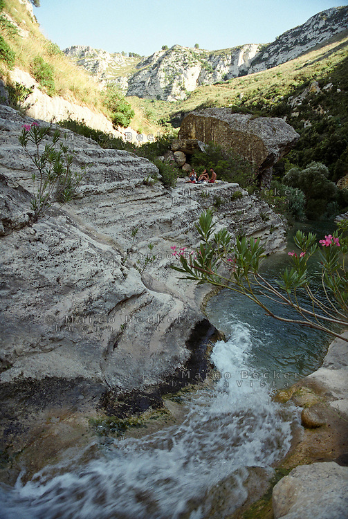 Riserva naturale orientata Cavagrande del Cassibile, presso Avola e Noto (Siracusa) --- Nature Reserve Cava Grande del Cassibile, nearby Avola and Noto (Syracuse)