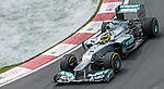 Mercedes AMG Petronas F1 Team driver Nico Rosberg of Germany speeds his car during the F1 Grand Prix du Canada at the Circuit Gilles-Villeneuve on June 08, 2012 in Montreal, Canada. Photo by Victor Fraile / The Power of Sport Images