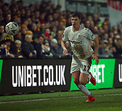 5th February 2019, Rodney Parade, Newport, Wales; FA Cup football, 4th round replay, Newport County versus Middlesbrough; Paddy McNair of Middlesbrough chases the high ball along the wing