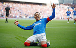 28.09.2018 Rangers v Aberdeen: James Tavernier celebrates as he scores from the spot