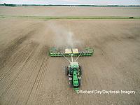 63801-10014 Farmer planting corn-aerial Marion Co. IL
