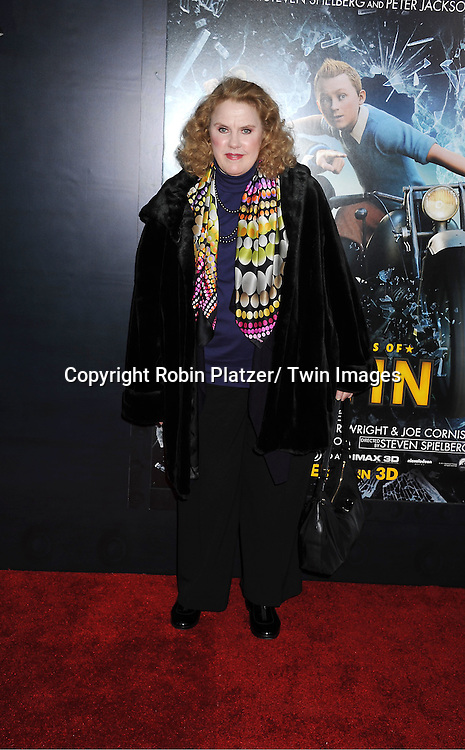 "actress Celia Weston attends The US Premiere of "" The Adventures of TinTin""..on December 11, 2011 at The Ziegfeld Theatre in New York City."