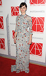 Ffelicity Jones arriving at the 19th Annual Art Directors Guild Excellence In Production Design Awards Arrivals held at the Beverly Hilton Hotel on January 31, 2015