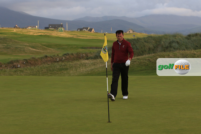 Peter Sheehan (Ballybunion) on the 17th green during the Munster Final of the AIG Senior Cup at Tralee Golf Club, Tralee, Co Kerry. 12/08/2017<br /> Picture: Golffile | Thos Caffrey<br /> <br /> <br /> All photo usage must carry mandatory copyright credit     (&copy; Golffile | Thos Caffrey)