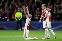 Hakim Ziyech of Ajax celebrates scoring the second goal during AFC Ajax vs Tottenham Hotspur, UEFA Champions League Football at the Johan Cruyff Arena on 8th May 2019