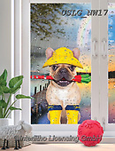 PAUL,REALISTIC ANIMALS, REALISTISCHE TIERE, ANIMALES REALISTICOS, paintings+++++NW_Umbrella-Dog-E,USLGNW17,#a#, EVERYDAY ,funny photos
