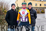 Gerard McCarthy, Terry McDonnell and Anthony O'Halloran pictured at the Lacey Cup Cycle on Sunday morning last.