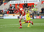 Rotherham United VS Burton Albion<br /> <br /> New York Stadium, Saturday 1st February 2020 <br /> <br /> Michael Smith Celebrates scoring the equaliser for the Millers against Albion