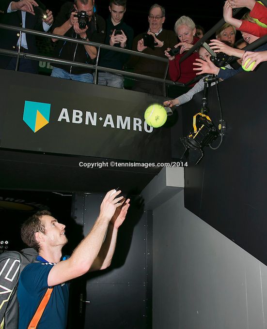 12-02-14, Netherlands,Rotterdam,Ahoy, ABNAMROWTT,Andy Murray(GRB) <br /> Photo:Tennisimages/Henk Koster