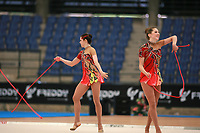USA Senior Group performs with 5 ropes at 2007 Genoa World Cup of Rhythmic Gymnastics Groups on June 9, 2007 at Genoa, Italy.  (Photo by Tom Theobald)