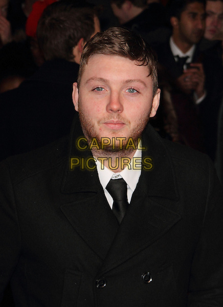 James Arthur.The UK Premiere of 'Django Unchained', Empire Leicester Square, London, England..January 10th 2013.headshot portrait black facial hair stubble beard tie white shirt  .CAP/ROS.©Steve Ross/Capital Pictures