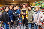 At the reopening of Moriarty's Centra Ballyheigue on Friday.  <br /> L to r: Louise O'Sullivan, Siobhan Galway, Laura and Martin Ferris, Aodhan McKenna, Grainne Galway, Amanda Reidy and Louise O'Sullivan all from Ballyheigue
