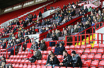 Sheffield United Ladies fans look on from the stands during the FA Women's Cup First Round match at Bramall Lane Stadium, Sheffield. Picture date: December 4th, 2016. Pic Clint Hughes/Sportimage