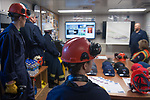 A safety briefing on Parker Drilling rig 272 at Prudhoe Bay.
