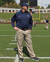 Penn State head coach Bill O'Brien stands on the field during an NCAA college football game against Virginia in Charlottesville, Va. Virginia defeated Penn State 17-16.