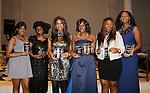 Kimmie Smith - Alexandreena Dixon - Beverly Johnson - Bisila Bokoko - Karen Mitchell -  Siamanda Chege - all honored at Color of Beauty Awards honoring supermodel Beverly Johnson on February 4, 2014 at Holy Apostles, New York City, New York. (Photo by Sue Coflin/Max Photos)
