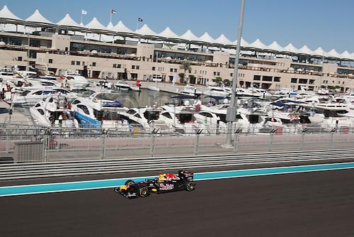 11.11.2011 Abu Dhabi, United Arab Emirates. Yas Marina Circuit, Sebastian Vettel, Red Bull Racing, .., during the practice day of the FIA Formula One Grand Prix of Abu Dhabi UAE.