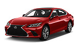 2020 Lexus ES-350 F-Sport 4 Door Sedan Angular Front automotive stock photos of front three quarter view