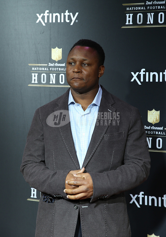 Feb. 2, 2013; New Orleans, LA, USA: Detroit Lions former running back Barry Sanders walks the red carpet prior to the Super Bowl XLVII NFL Honors award show at Mahalia Jackson Theater. Mandatory Credit: Mark J. Rebilas-USA TODAY Sports