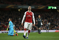 Frustration for Arsenal's Henrikh Mkhitaryan<br /> <br /> Photographer Rob Newell/CameraSport<br /> <br /> UEFA Europa League Quarter-Final First Leg - Arsenal v CSKA Moscow - Thursday 5th April 2018 - The Emirates - London<br />  <br /> World Copyright &copy; 2018 CameraSport. All rights reserved. 43 Linden Ave. Countesthorpe. Leicester. England. LE8 5PG - Tel: +44 (0) 116 277 4147 - admin@camerasport.com - www.camerasport.com