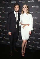 LOS ANGELES, CA - NOVEMBER 4: Jamie Dornan and Rosamund Pike at the 10th Hamilton Behind the Camera Awards at Exchange LA in Los Angeles, California on November 4, 2018. <br /> CAP/MPI/FS<br /> &copy;FS/MPI/Capital Pictures