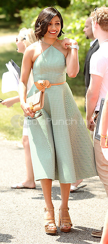 JERSEY CITY, NJ - MAY 30: Actress Freida Pinto attends the 8th Annual Veuve Clicquot Polo Classic at Liberty State Park on May 30, 2015 in Jersey City, New Jersey. . Credit: Harry Pluviose/MediaPunch