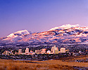 Reno Twilight Mountain Skyline
