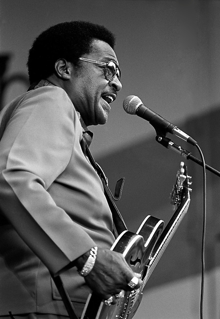 LITTLE MILTON plays his lead guitar and sings at the MONTEREY JAZZ FESTIVAL - MONTEREY, CALIFORNIA..