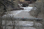 USGS workers measure water flow on the East Fork of the Carson River, in Gardnerville, Nev. on Monday, Jan. 9, 2017. <br /> Photo by Cathleen Allison/Nevada Photo Source