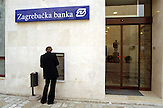 Croatia Zagrebacka Banka / Kroatische Zagrebacka - Republik Kroatien - Republika Hrvatska - Sign of the croatian Zagrebacka bank in the Republic of Croatia