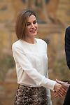Queen Letizia of Spain attends a reception at El Pardo palace in Madrid, Spain. June 22, 2015. (ALTERPHOTOS/Victor Blanco)