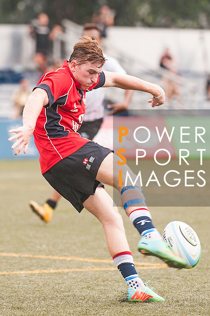 Hugo Stiles of Hong Kong in action during the match between Hong Kong and United Arab Emirates of the Asia Rugby U20 Sevens Series 2016 on 12 August 2016 at the King's Park, in Hong Kong, China. Photo by Marcio Machado / Power Sport Images