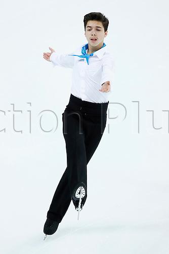 08.12.2016. Palais Omnisports, Marseille, France. ISU Junior Figure Skating Grand Prix Final. Roman Savosin (RUS) competes in the Men's Short Program.